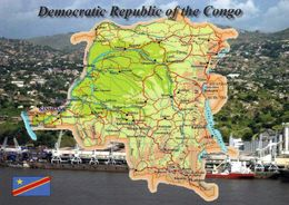 1 Map Of Democratc Republic Of Congo * 1 Landkarte Mit Der Demokratischen Republik Kongo * - Landkarten
