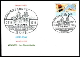 97579) BRD - Karte - SoST 53113 BONN Vom 23.11.2018 - Verona, VERONAFIL Ausstellung, Kirche - BRD