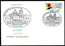97580) BRD - Karte - SoST 53113 BONN Vom 23.11.2018 - Verona, VERONAFIL Ausstellung, Kirche - BRD