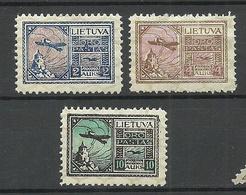 FAU LITAUEN Lithuania 1922 Michel 121 - 123 MNH Fake Fälschungen - Lituanie