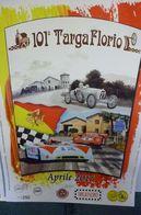 MANIFESTO 50x70 101 TARGA FLORIO BOLLO E TARGA POSTALE AUTOGRAFATO DAL M.° ACCARDI - Manifesti