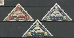 LITAUEN Lithuania 1922 Michel 118 - 120 * - Lituanie