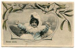 NIÑA PEQUEÑA CHILD ENFANT BONNE ANNEE HAPPY YEAR FELIZ AÑO CIRCA 1900S POSTAL CARD -LILHU - Portretten
