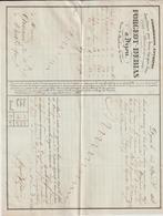 AA88, Côte D'Or, Lettre De Voiture Forgeot-Débias, Dijon, 1838, Transport Par Terre Et Eau - France