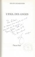 Dédicace De Gilles Legardinier - L'exil Des Anges - Livres, BD, Revues