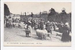 CPA 50 COUTANCES Le Marché De La Croûte - Coutances
