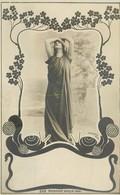 CP ROTOPHOT BERLIN 1900 - FEMME BRAS CROISES SUR LA TETE ILLUSTRATIONS ESCARGOT - Femmes
