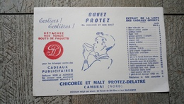 Buvard Buvez Protez Sa Chicorée Et Son Malt Cambrai écoliers écolières - Chocolat