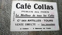 Buvard Café Collas Perles Des Indes Cie Des Antilles Tours 37 - Café & Thé