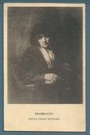 CPA - VIEILLE FEMME MÉDITANT (REMBRANDT) - Malerei & Gemälde