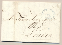 Nederland - 1833 - Complete Vouwbrief Van Amsterdam Naar London / UK - Paesi Bassi