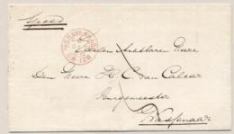 Nederland - 1868 - 2-Letterstempel 'sGravenhage Op Spoed-omslag Naar De Burgemeester Van Wassenaar - Nederland