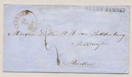 Nederland - 1865 - BAARN-EEMNES Op Envelopje Via Naarden Naar Muiden - Nederland