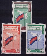 CAMBODGE - N° 98/100 - Pour La Paix - Colombe Et Drapeau. Série Complète. Luxe - Cambodia