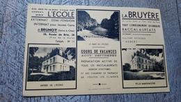 Buvard école La Bruyère à Brunoy Seine Et Oise 78 Cours De Vacances Villa Mandragore - Buvards, Protège-cahiers Illustrés