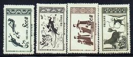 CHINE - N° 943/946** - PEINTURES MURALES DE TUN HUANG 1952  - Série Complète - MI 176/7911 - 1949 - ... République Populaire