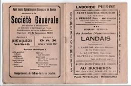 1929 Horaire Des Autobus Landais - Europe
