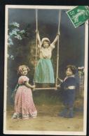 JEUX - ENFANTS Jouant Sur Balançoire - Voyagée 1907-  Scans Recto Verso -Paypal Free- - Cartes Postales