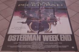 AFFICHE CINEMA ORIGINALE FILM OSTERMAN WEEK-END Sam PECKINPAH LANCASTER HAUER HOPPER HURT 1983 - Affiches & Posters