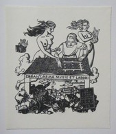 Ex-libris Illustré Belgique-Italie XXème - Femmes Nues - Gianni MANTERO - Ex-libris