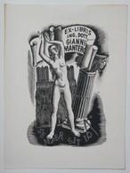 Ex-libris Illustré Belgique-Italie XXème - Femme Nue - Gianni MANTERO - Ex Libris