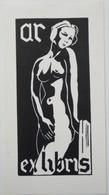Ex-libris Illustré Belgique XXème - Femme Nue - AR - Ex Libris