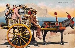 Cartolina Sicilia Carro Siciliano Illustrata 1937 - Palermo