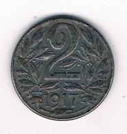 2  HELLER 1917 OOSTENRIJK /8246/ - Autriche