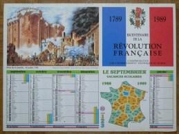Bicentenaire De La Révolution Française - Le Septembrier - Calendriers
