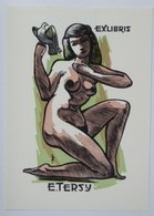 Ex-libris Illustré Belgique XXème - Femme Nue - E.TERSY - Ex-libris