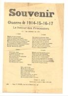 """Chansons Censurées En 1916 """" Souvenir De La Guerre 1914 - 15 - 16 - 17 """" - Détails Voir Descriptif (b241) - 1914-18"""