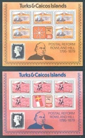 TURKS AND CAICOS - MNH/**  - 1979 - ROWLAND HILL  5 MINISHEETS -  Yv 440-444 -  Lot 18444 - Turks & Caicos (I. Turques Et Caïques)