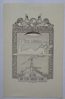 Ex-libris Illustré Belgique XXème - Femme Nue - Docteur Hubert DEWEZ - Ex Libris