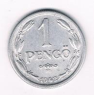 1 PENGO 1942  HONGARIJE /8249/ - Hongrie