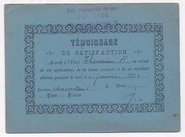 TEMOIGNAGE  DE SATISFACTION AUBERVILLIERS 93 Ecole Jean Macé Eleve Theveniau - Diplômes & Bulletins Scolaires