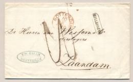 Nederland - 1866 - Complete Vouwbrief Van Rotterdam - Na Posttijd - Naar Zaandam - Nederland