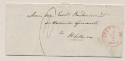 Nederland - 1864 - Omslagje Van OLDEMARKT Via Steenwijk Naar DE BLESSE - Nederland