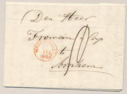 Nederland - 1863 - Complete Vouwbrief Van RHENEN Via Wageningen Naar Arnhem - Nederland