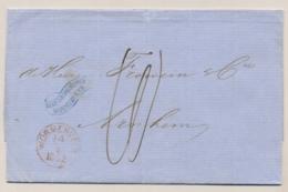 Nederland - 1862 - Complete Vouwbrief Van WORMERVEER Naar Arnhem - Nederland