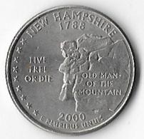 USA New Hampshire 2000P 25c States [C822/2D] - 1999-2009: State Quarters