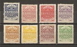 Samoa 1877 - Express - Série Complète De 8 Timbres REPRINT MH - Samoa