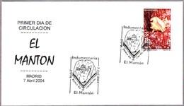 EL MANTON - THE SHAWL. SPD/FDC Madrid 2004 - Textile