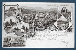 Pozdrav Iz  SARAJEVA  1896 - 2 Scans - Bosnie-Herzegovine