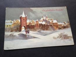 G. KAUFMANN  - 26.12.14 - FELDPOST - Nach MUENCHEN - Künstlerkarten