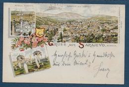 Gruss Aus  SARAJEVO  1896 - 2 Scans - Bosnie-Herzegovine