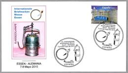 LAMPARA DE CARBURO - KARBIDLAMPE - CARBIDE LAMP. Correo Español En Essen 2015 - Minerales