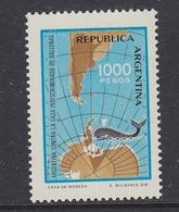 Argentina 1981 Whale 1v   ** Mnh (41435A) - Argentinië