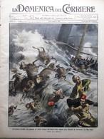 La Domenica Del Corriere 11 Ottobre 1908 Valle Vestino Puglia Campanile Carnegie - Libri, Riviste, Fumetti