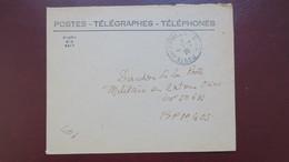 Indochine Lettre Service Des Postes Cachet Militaire Avec Croix De Lorraine 1946 Pour BPM 405 Saigon - Postmark Collection (Covers)