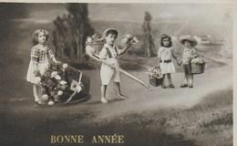 Carte Postale. Bonne Année. Enfants. - New Year